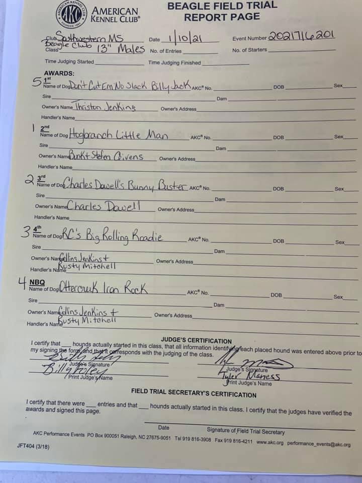 13in males paperwork