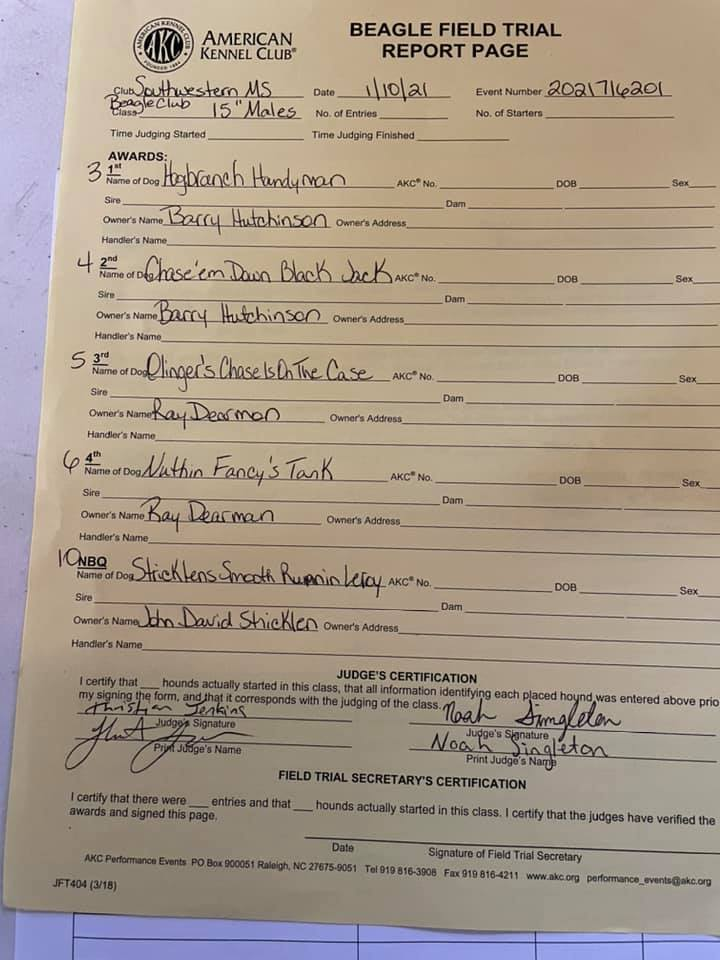 15in males paperwork